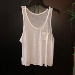 White loose flowy tank top S